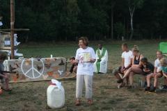 Lagermesse mit Marianne Glamann und Pastor Ene